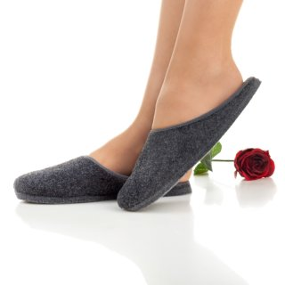 Felt slippers light grey/anthracite