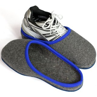 Over slippers rubber sole - blue