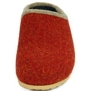 Felt clogs with footbed - Red
