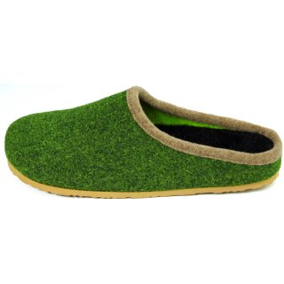 Felt clogs with footbed - Olive