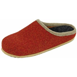 Felt clogs with footbed